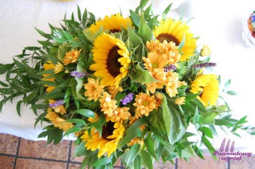 Kompozycja kwiatowa - słoneczniki 1